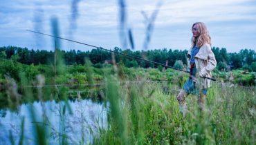 žena rybářka