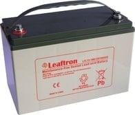 Leaftron Olověný akumulátor 12V 100Ah pro elektromotory + nabíječka!