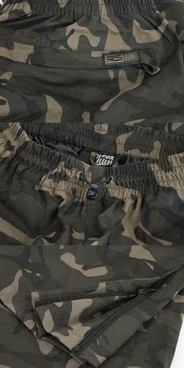 rybářské kalhoty Chunk LW Camo RS 10K Trousers značka fox