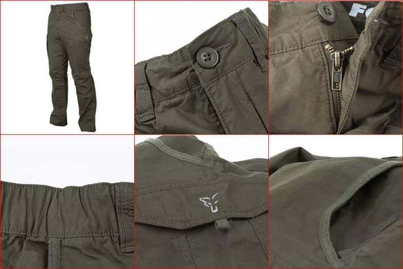 zelené rybářské kalhoty Fox Kalhoty Collection